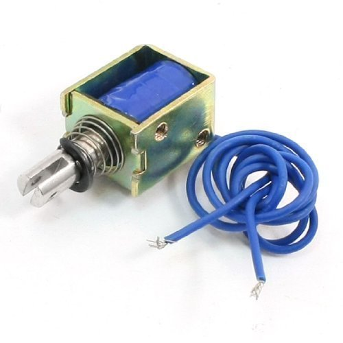 sourcingmap® DC 12V 4N 10mm Hub offenem Rahmen Elektromagnetische Hubmagnet de