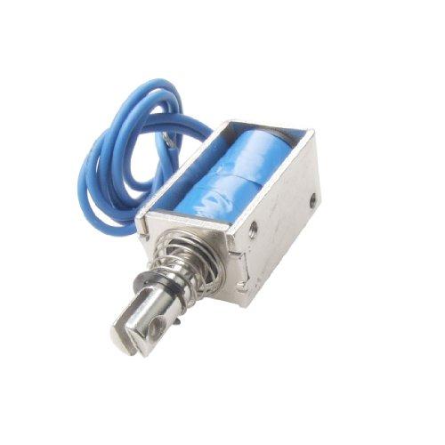 sourcingmap® Elektrischer Gleichstrom-Hubmagnet, 12V, Schubmagnet, offenes Gehäuse, 5N, 10mm