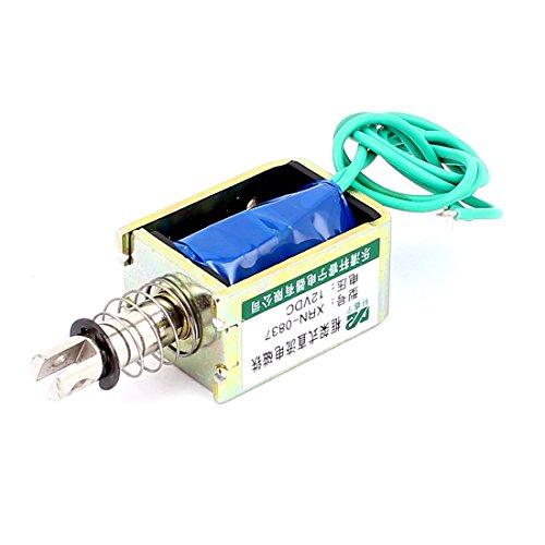 sourcingmap® XRN-0837 10mm 20N Zug Druck Stellmotor Elektromagnet Magnetspule DC 12V