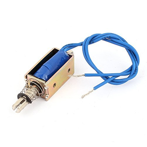 sourcingmap® XRN-0530 DC 12V 5,1 KG/10mm Zugkupplung Offener Rahmen Solenoid Elektromagnet