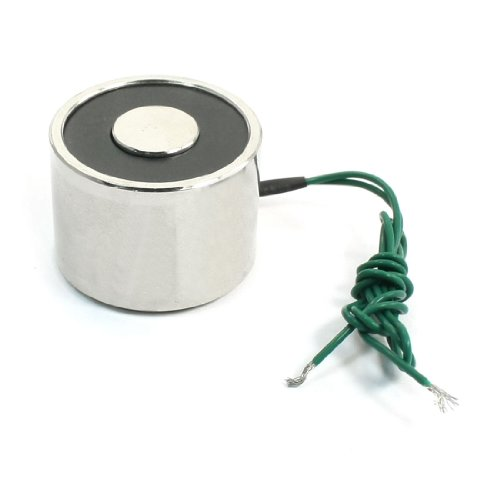 sourcingmap® DC 12V 22lb 2 verdrahtet 5W elektrischer Elektromagnet Solenoid Heben Halten
